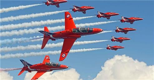- Red Arrows training at Syerston this week