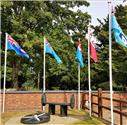 Flags raised to commemorate VJ Day